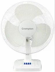 110 Watts 3 Blades Crompton Table Fan High Speed Whirlwind Gale 16 Kd White