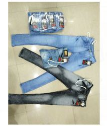 Blue And Black Color Mens Denim Jeans