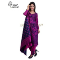Ladies Cashmilon Unstitched Full Sleeve Printed Suit