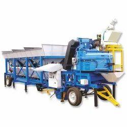 Diesel Engine Mobile Concrete Batching Plant, Automation Grade: Automatic