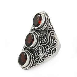 Fantabulous 925 Sterling Silver Garnet Gemstone Ring