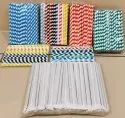 Colorful Biodegradable Striped Paper Drinking Straw