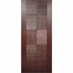 Brown Decorative Skin Door, Size/Dimension: 7 X 4 Feet, Matte