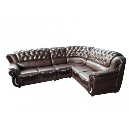 L Shape Corner Leather Sofa Set