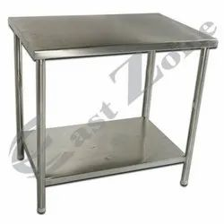 East Zone Silver SS Work Table with 1 BS, Rectangle