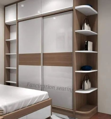 White Wooden Sliding Door Wardrobe