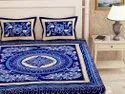 Traditional Floral Print Double Bedsheet