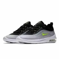 e42a3d11f67f5c Nike Air Max Gray Black With Parrot Green Logo Sports Shoes