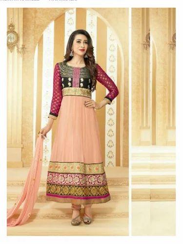 3a3579c893 Pink Georgette Karishma Kapoor Designer Suit, Rs 1250 /piece | ID ...