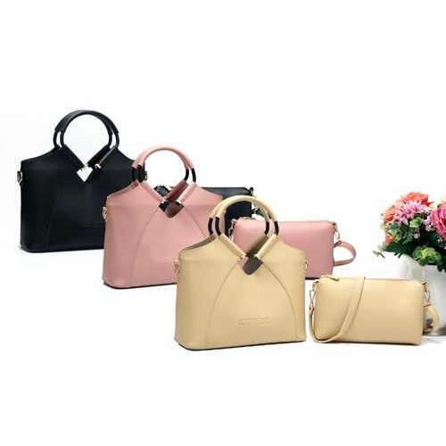 e48652d2d77 Black And Pink And Cream Leather Ladies Side Bag, Rs 745 /piece | ID ...