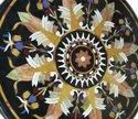 Mother Of Pearl Table Marble Inlaid White Table Top