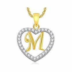 American Diamond Alphabet Pendant