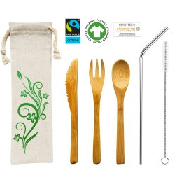 Organic Cotton Cutlery Bag