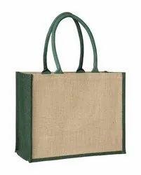 Rope Handle Printed Jute Shopping Bag