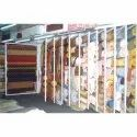 Stainless Steel Wall Mounted Textile Display Stand, For Supermarket