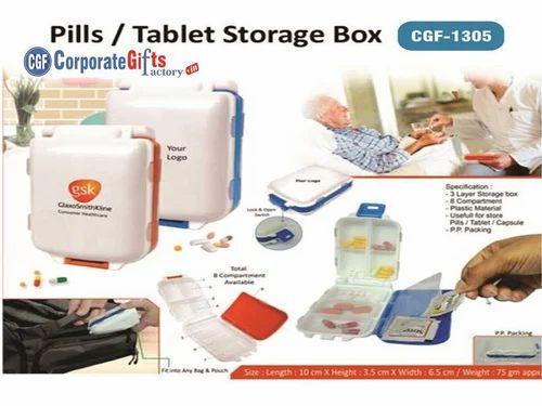 Pills Box Medicine Tablet Holder Organizer Dispenser Case