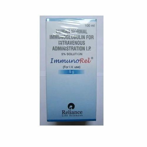 Reliance IVIG Immunorel Immunoglobulin, 100 ML, For Clinical