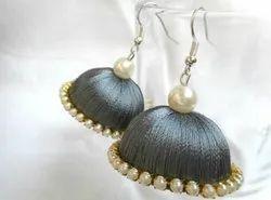 Sushobhan Silk Thread Gray Zumka
