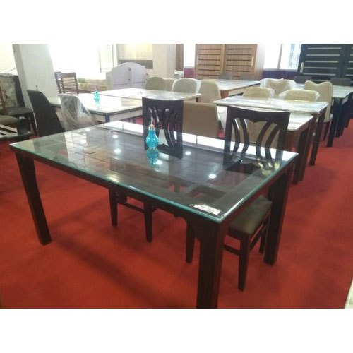 Awesome Glass Top Wooden Dining Table Set Download Free Architecture Designs Scobabritishbridgeorg