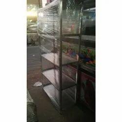 Stainless Steel Silver Kitchen Storage Rack