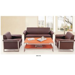 Brown 3 Seater Letherette Sofa, Warranty: 2 Year, Size: 1860x770x780 Mm