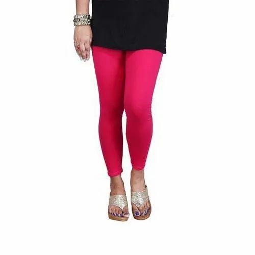 2dbdadc190586 Plain Ladies Pink Cotton Lycra Legging, Size: Free, Rs 150 /piece ...