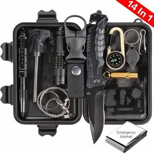 WATER CANTEEN SURVIVAL KIT NEEDED FOR EVERYONE COMPLETE WITH 14 SURVIVAL ITEMS