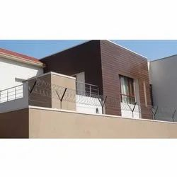 Brown Modern House Wooden Finish Wall Cladding
