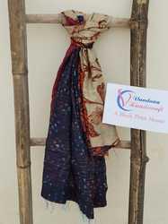 Silk Kantha Vintage Reversible Shawl Wrap Scarf