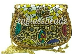 Yellow Stone Bags Sling Clutch Mosaic Bag