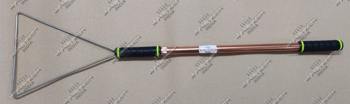 Snake Catcher Bag Stick for Catching, Controlling, or Moving Snakes, SS triangle mouth 46.5inches