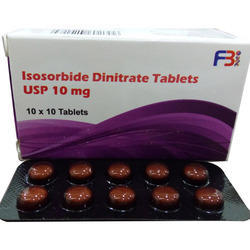 Isosorbide Dinitrate Tablet Strip USP 10 mg