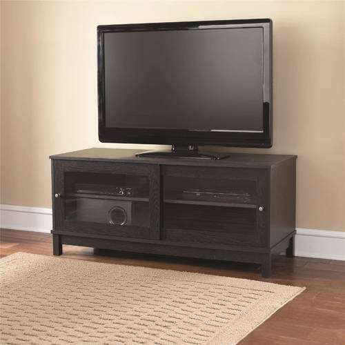 cheap for discount b61de 92e75 Mainstays 55 Inch Tv Stand With Sliding Glass Doors