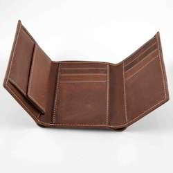 Brown Adel International Trifold Men's Leather Wallets