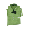 Green Casual Wear Mens Plain Cotton Shirt