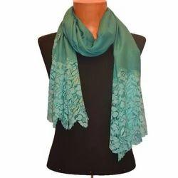 UAAC Casual Wear Cotton Lace Stole