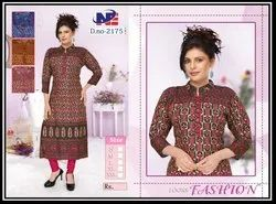 REYON STRAIGHT FANCY KURTI