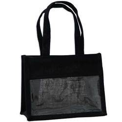 Black Jute Gift Bag With Window