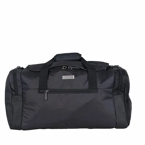 Black Polyester Travel Duffle Bag