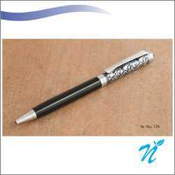 Black And Silvery Design Ball Pen