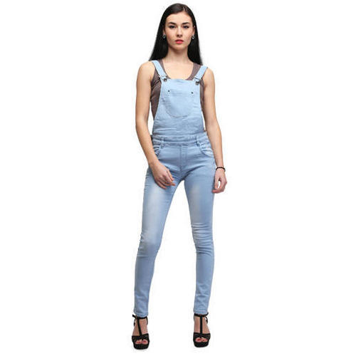 8aa9027cf11 Full Length Plain Ladies Denim Dungaree