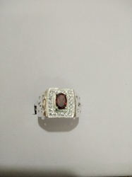 Gemstone Men Silver Ring