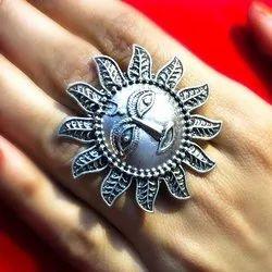 Oxidized Sun Shape Rings