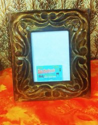 Brown wooden photo frame, Size: 7x5