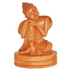 Wooden Carving Buddha Statue