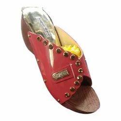 Heels Suede Ladies Crystals Sandals, Size: 6 To 11