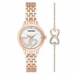Armitron Ladies 75-5663MPRGST Rosegold Ladies Watch And Matching Bracelet Set
