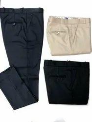 Flat Black Men Formal Trousers