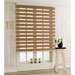 Zebra Wooden Blinds Roller Curtain