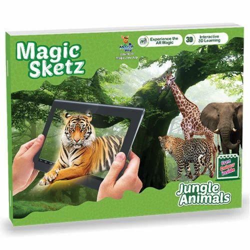 3d Coloring Magic Sketz Jungle Animals Book